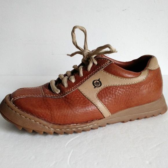 Born Cognac Leather Sneaker Walking